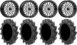 "Bundle - 9 Items: MSA Brute Beadlock 16"" ATV Wheels 32"" MotoHavok Tires [4x137 Bolt Pattern 10mmx1.25 Lug Kit]"