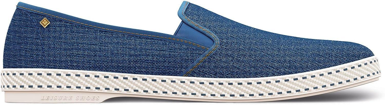 Rivieras Unisex Jean Cotton Sneakers bluee Jean Size EU 36 - US W4.5
