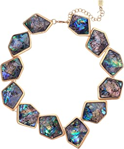 Geometric Abalone Stone Collar Necklace