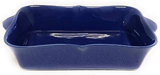 """Temp-tations Bella 11""""x7"""" 2.5 Quart Baker Lasagna CasseroleDish Replacement (Curvy, Blue)"""