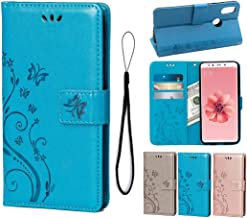 suprwolf Wallet Case for Xiaomi Mi 6X/Mi A2, PU Leather Flip Cover Butterfly Flowers with Card Holders Magnetic Stand Case...