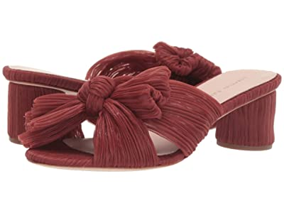 Loeffler Randall Emilia Pleated Knot Mule (Amber Pleated Fabric) Women