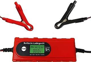 JOM 127475 prostownik do akumulatorów, 6 V/12 V, 4 A, z testerem akumulatora, ładowarka podtrzymująca, IP65, do samochodó...