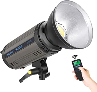Neewer 200Ws Dimmable LED Video Light, 5600K Daylight Balanced Video Light, 21000LM Continuous Lamp with Bowens Mount for YouTube Vine Portrait Photography Video Lighting Studio Interview RA 95+