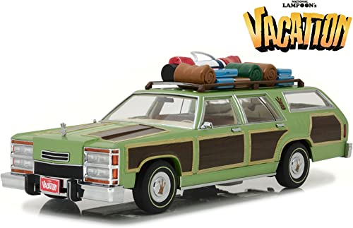 Grünlight Collectibles 19031 Modellbau Ford Wagon Lampoon 's Vacation 1979 t Gep  de TOI Echelle 1 18, Grün braun