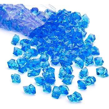 150X Acrylic Crystal Gem Stone Ice Rocks Table Scatter Confetti Vase Filler ha