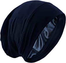 Satin Bonnet Silk Lined Sleep Cap Frizzy Hair Beanie Adjustable Slouchy Skull Night Cap Hair Protection Patients Care Hat