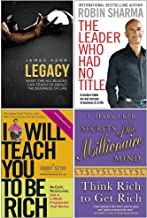 Legacy, The Leader Who Had No Title, I Will Teach You To Be Rich, Secrets of the Millionaire Mind 4 Books Collection Set