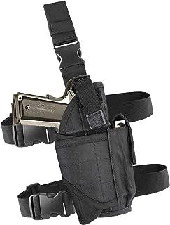 VTOSEN Drop Leg Holster, Molle Tactical Pistol Thigh Gun Holster, Tactical Leg Holster, Airsoft Gun Drop Thigh Holster, Left & Right Hand Adjustable, Black, Khaki