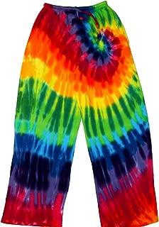 Tie Dyed Shop 12 Color Rainbow Tie Dye Lounge Pants