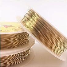 Kralendraad 0.2/0.3/0.4/0.5/0.6/0.7/0.8/1.0 mm Messing koperdraden Kralendraad voor sieraden die gouden kleuren maken (Col...