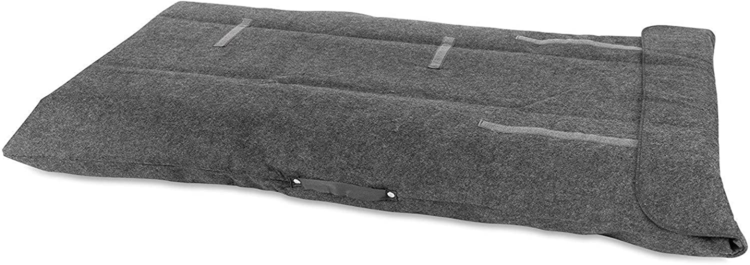 Dining Table Leaf Storage Bag Ultra Soft and Thick Premium Quality Felt Secure Fit (Grey, 2)