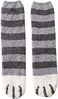 Uyuke Calcetines Suaves Unisex Cat Claw Calcetines acogedores de Felpa Calcetines de Invierno cálidos para Mujeres niñas