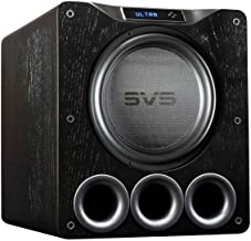 SVS PB16-Ultra Subwoofer (Black Oak) – 16-inch Driver, 1,500-Watts RMS, DSP App Control, Ported Cabinet