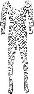Black Men's Sexy Open Files Fishnet Pantyhose Tights Bodysuits Stockings