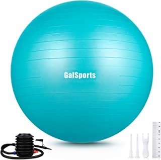 GalSports Extra Thick Exercise Ball, Anti-Burst Yoga Ball Chair Supports 2200lbs with Quick Pump, Stability Fitness Ball f...
