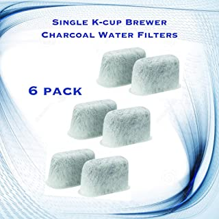 Single K-cup Brewer Charcoal Water Filters for Keurig B75 - 6 Pack