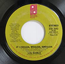 Lou Rawls 45 RPM If I Coulda, Woulda, Shoulda / One Life to Live