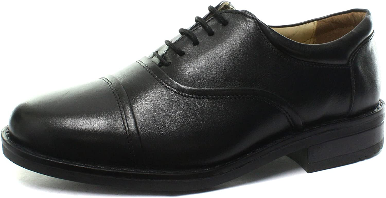 Roamers M827A Blind Eye Flexi Capped Black Mens Oxford shoes