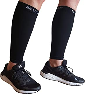 Calf Compression Sleeve Bevisible Sports - Shin Splint Leg Compression Socks for Men & Women - Great for Running, Cycling,...