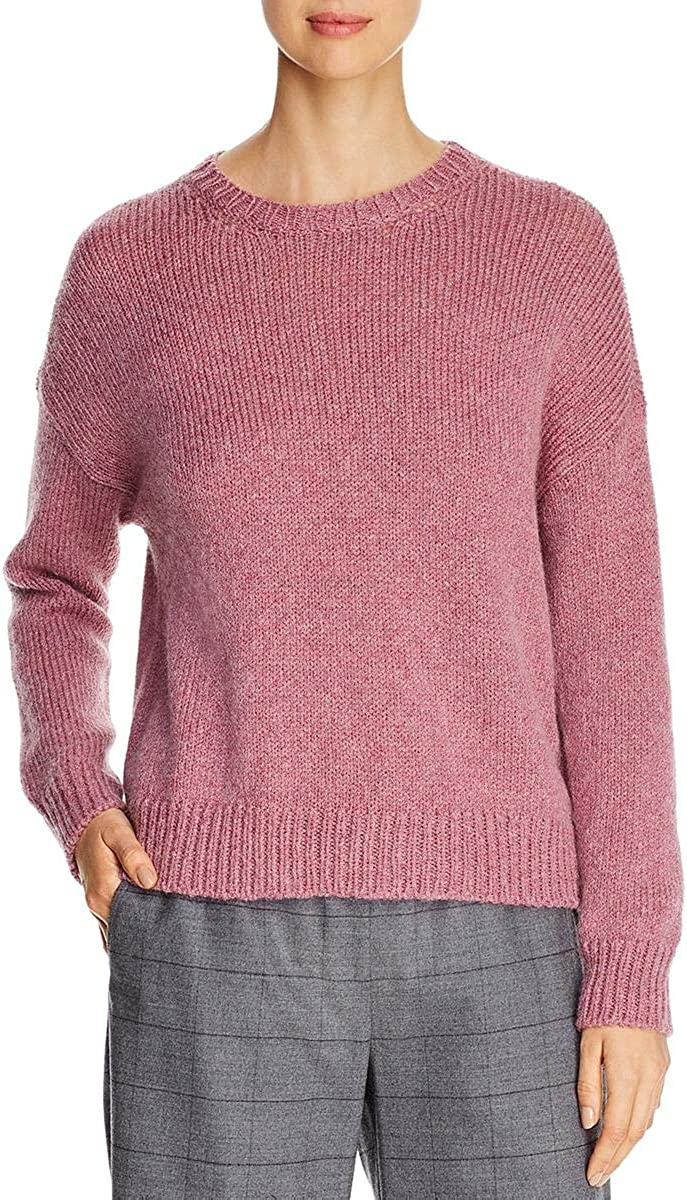 Eileen Fisher Womens Wool Mohair Pullover Round Neck Sweater Sale Fashionable price