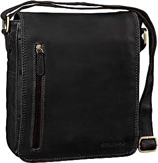 """STILORD Will"""" Umhängetasche Leder Männer Messenger Bag für iPad kleine Schultertasche Handtasche Herren-Tasche 10,1 Zoll Tablettasche echtes Leder"""