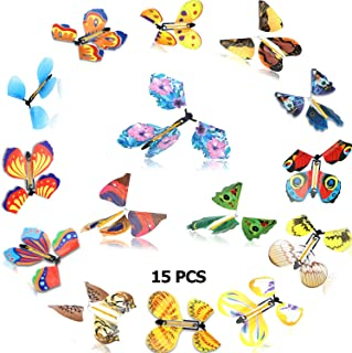 15 Pieces Magic Flying Butterfly Wind up Butterfly in The Book Classic Romantic Toys Gifts Cards for Birthday Anniversary ...