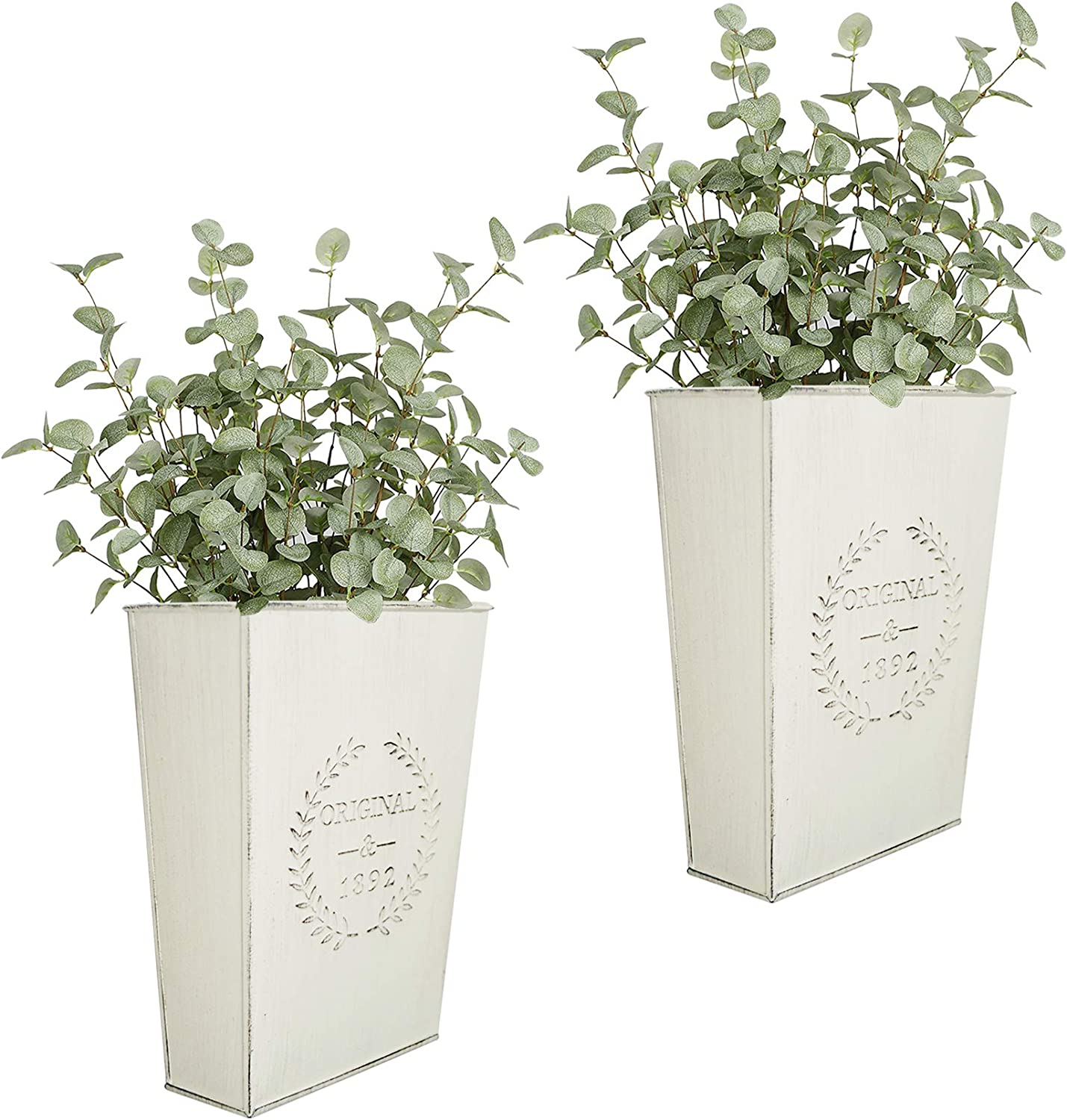 LESEN Department store Set of 2 Farmhouse In stock Metal Wall Rustic Decor Co Planter