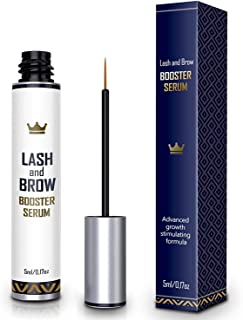 Natural Lash Growth Serum - USA Made eyebrow Growth Enhancer - eyelash Booster to Grow Longer eyelashes - Lash Boost & Bro...