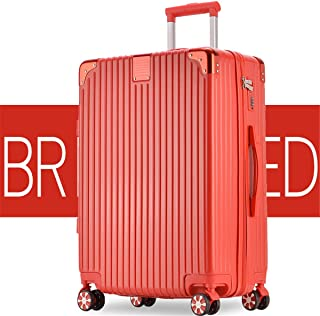 SRY-Luggage ABS + PC Zipper Trolley Case, Universal Wheel Luggage Wear-Resistant Boarding Lock Box, 20, 22, 24, 26 Inches Durable Carry on Luggage (Color : Red, Size : 20inch)