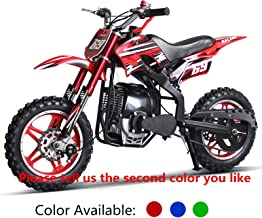 AR DONGFANG 49cc 50cc 4 Stroke Dirt Bike Kids Dirt Bike Kid Bike Mini Bike Pocket Bike Motorcycle Scooter Moped Bicycle with 10inch Aluminum Wheel(Red)