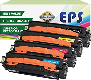 EPS 4PK Replacement Toner Set for Samsung 504 CLP-415NW CLX-4195FW C1810W (1 x Black, 1 x Cyan, 1 x Magenta, 1 x Yellow)