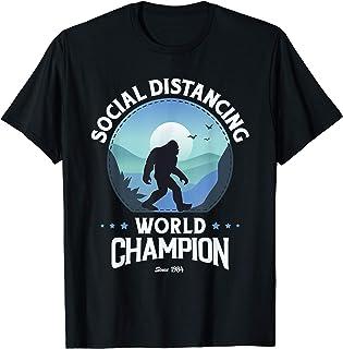 Champion du Monde Distancing Drôle Bigfoot T-Shirt