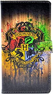 Hogwarts Watercolor Art Pattern Leather Wallet Card Flip Stand Case Cover For Samsung Galaxy S5