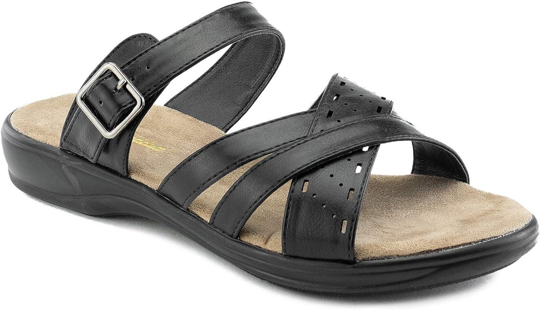 Women's Comfort Line Slip On Criss Soft Footbed Topics on TV Platform Cross S Sale item