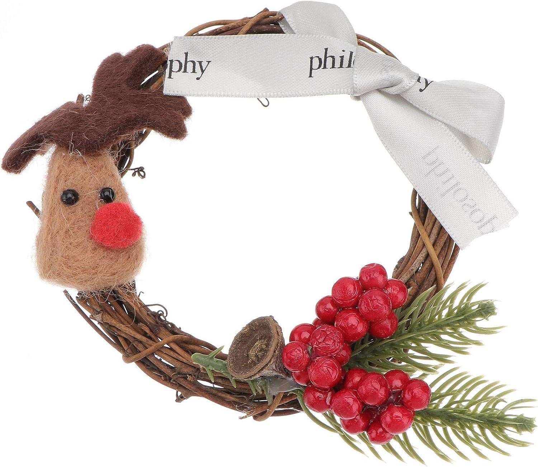 ABOOFAN Bargain 1pc Mini Christmas Hanging wholesale Wreath Party Garlan Home Xmas