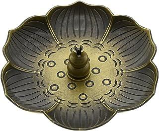 Saim Incense Burner Stick Holder Zen Buddhist Incense Holder for Sticks Cones Coils Incense with Ash Catcher, Gourd Type, ...