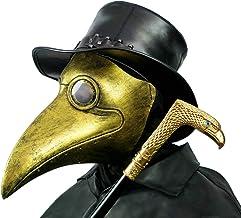 PartyHop Mascara Doctor Peste, Pico De Pájaro De Oro Disfraz Steampunk De Gas, para Niño Y Adulto