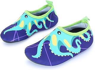 L-RUN Kids Water Shoes Barefoot Aqua Socks Swim Shoes for Beach Pool Surf Yoga