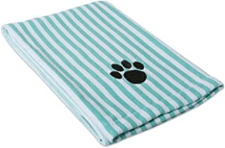 Bone Dry DII Microfiber Dog Bath Towel with Embroidered Paw Print
