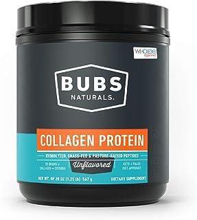 BUBS Naturals Pasture Raised Grass-Fed Collagen Peptides | Paleo & Keto Diet Friendly | Non - GMO | Dairy-Free Gluten-Free | Mixes Easy | Unflavored Collagen Powder |