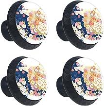 4 stks Kabinet Knoppen Lade Dressoir Handvatten Traditioneel Patroon Japans voor Kamer, Keuken, Kantoor en Badkamer