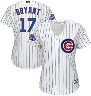 Majestic Chicago Cubs MLB Womens Kris Bryant #17 Cool Base Player Jersey Plus Sizes