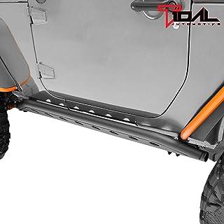TIDAL Tubular Side Armor Rocker Guard Rock Sliders Fit for Jeep Wrangler JK 2 Door