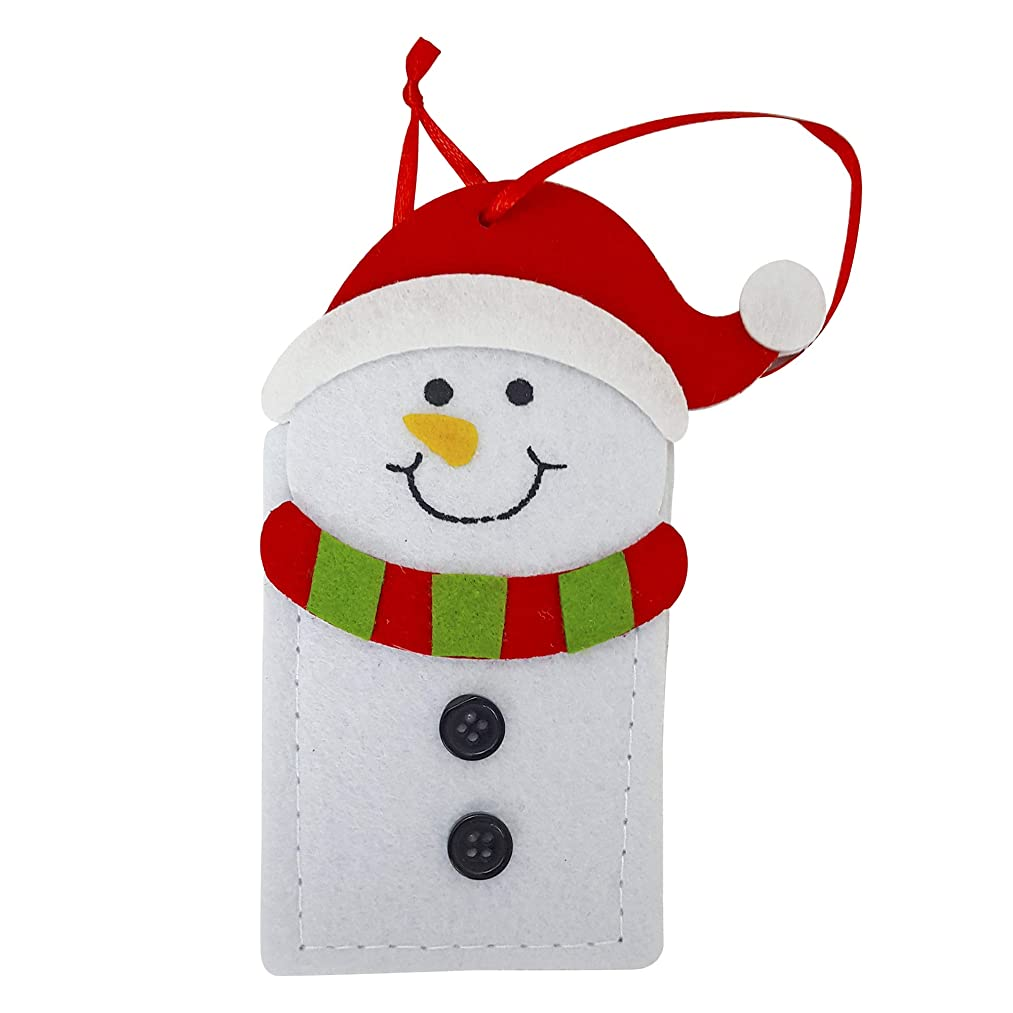 Christmas Reusable Felt Gift Card Holders- Set of 6 (Snowman)