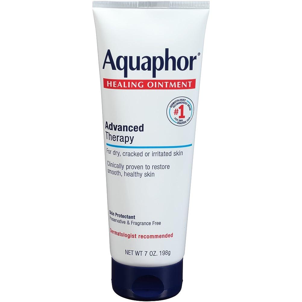 わずらわしい順応性単語Aquaphor Advanced Therapy Healing OintmentスキンProtectant 7オンスチューブ