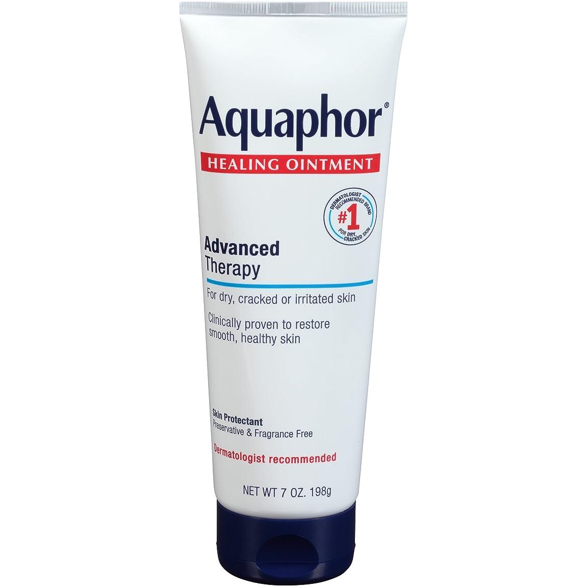 傀儡自動的に貴重なAquaphor Advanced Therapy Healing OintmentスキンProtectant 7オンスチューブ