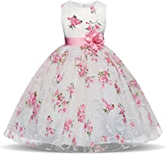 Lace Infant Toddler Pageant White Flower Girl Dresses Weddings Party Dresses for Girls