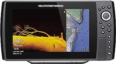Humminbird Helix 10 Chirp MEGA DI+ GPS G3N CHO Fishfinder with Bluetooth & Ethernet, Black HUM-410880-1CHO