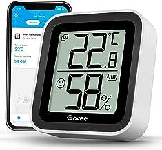 Govee Bluetooth thermometer hygrometer voor binnenshuis met mini LCD-scherm, bewaking op afstand via Govee Home app, gegev...